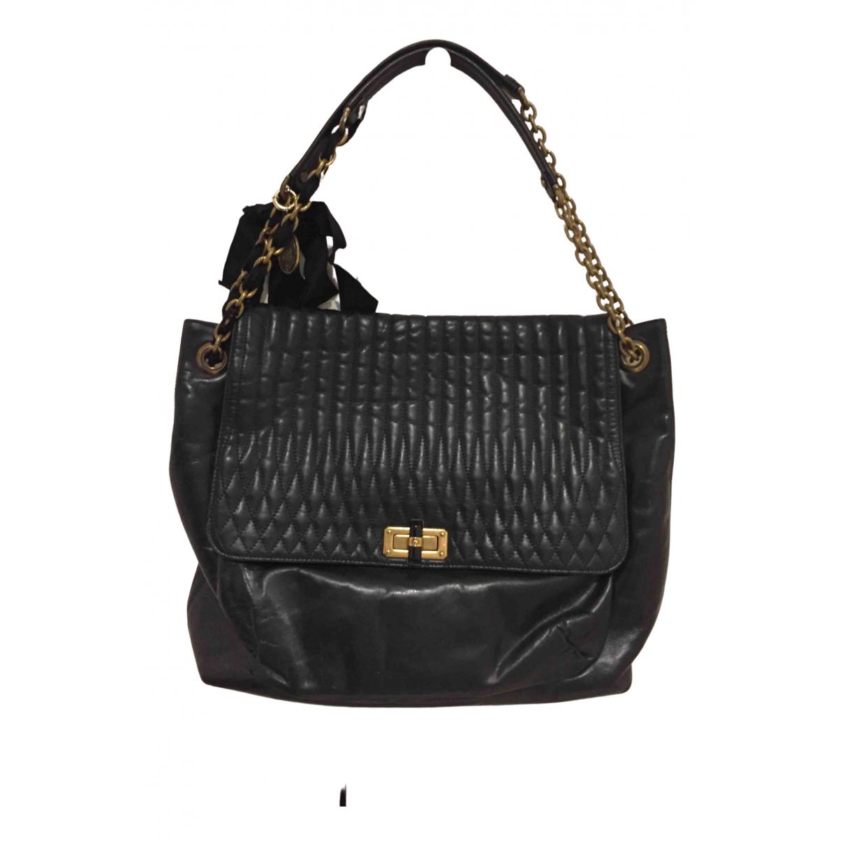 Lanvin Happy Black Leather handbag for Women \N