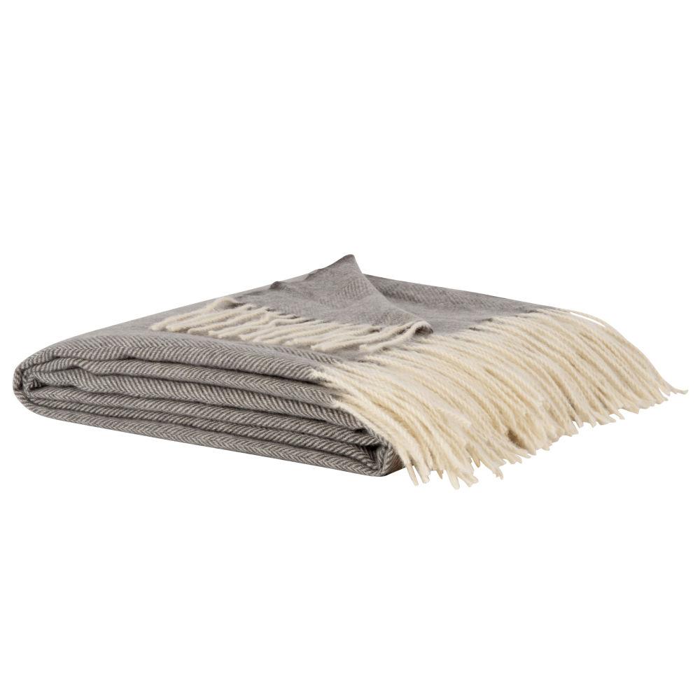 Decke mit Streifenmuster 150x200
