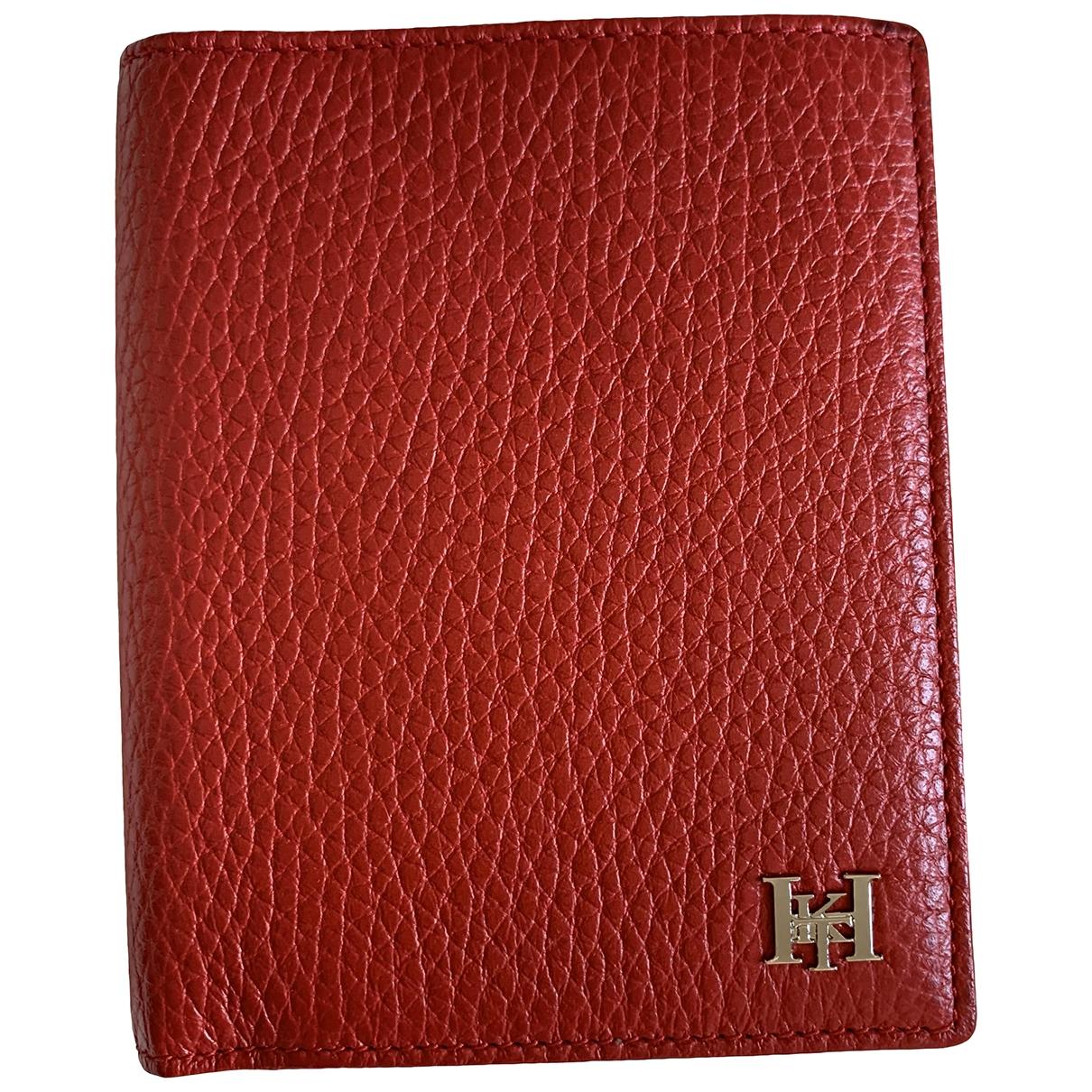 Hackett London - Petite maroquinerie   pour homme en cuir - rouge