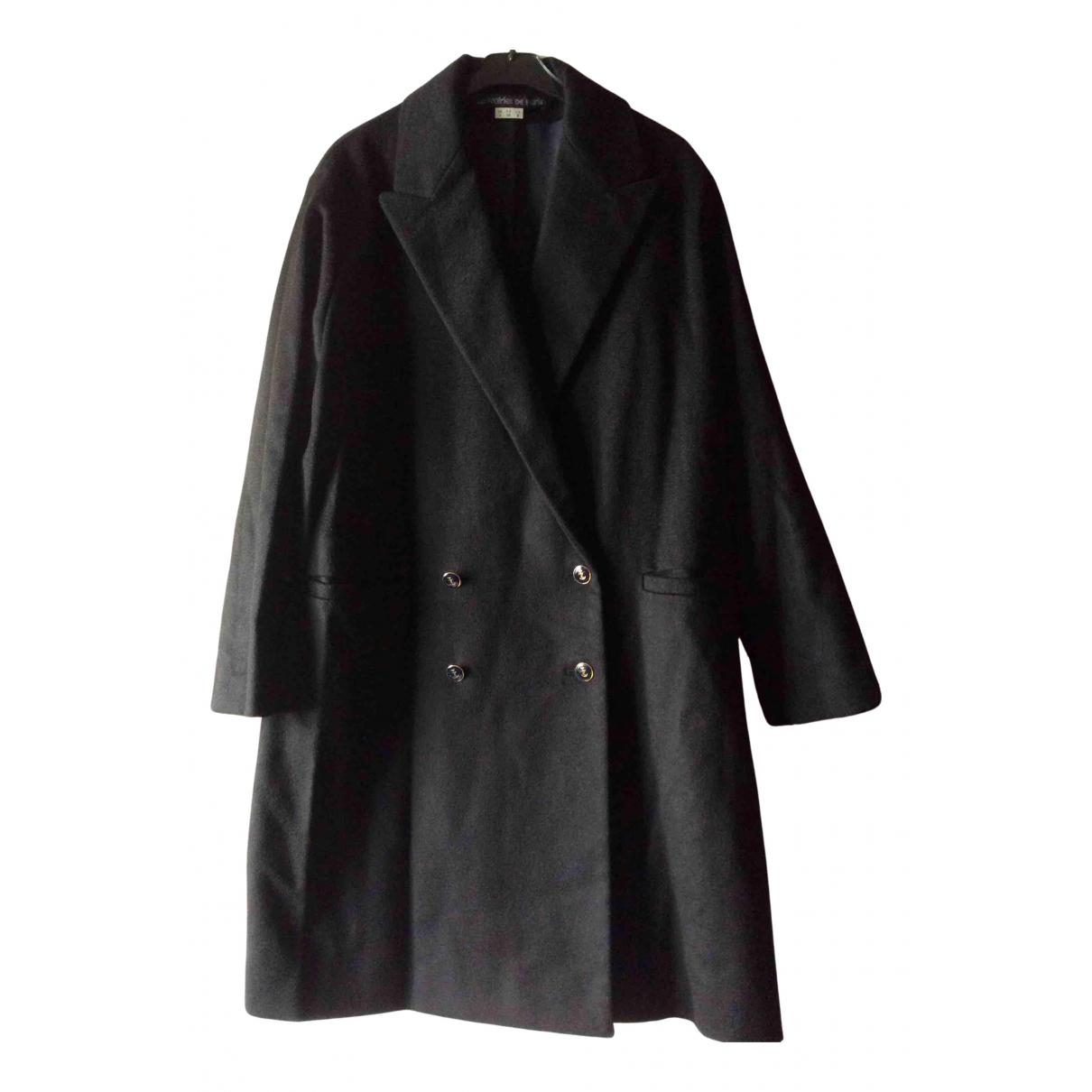 Les Prairies De Paris - Manteau   pour femme en laine - noir
