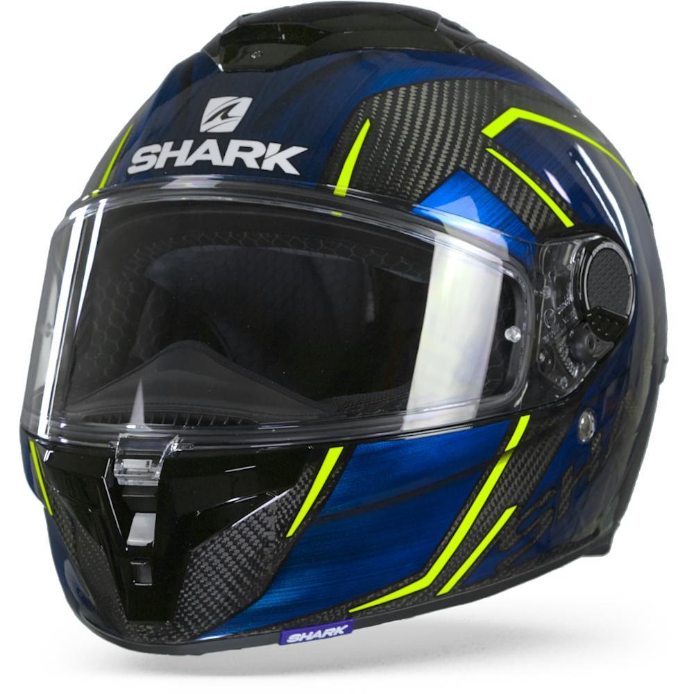 Shark Spartan GT Carbon Kromium DUB Casco Integral Carbón Cromo Azul S
