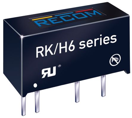 Recom RK 1W Isolated DC-DC Converter Through Hole, Voltage in 21.6 → 26.4 V dc, Voltage out 5V dc