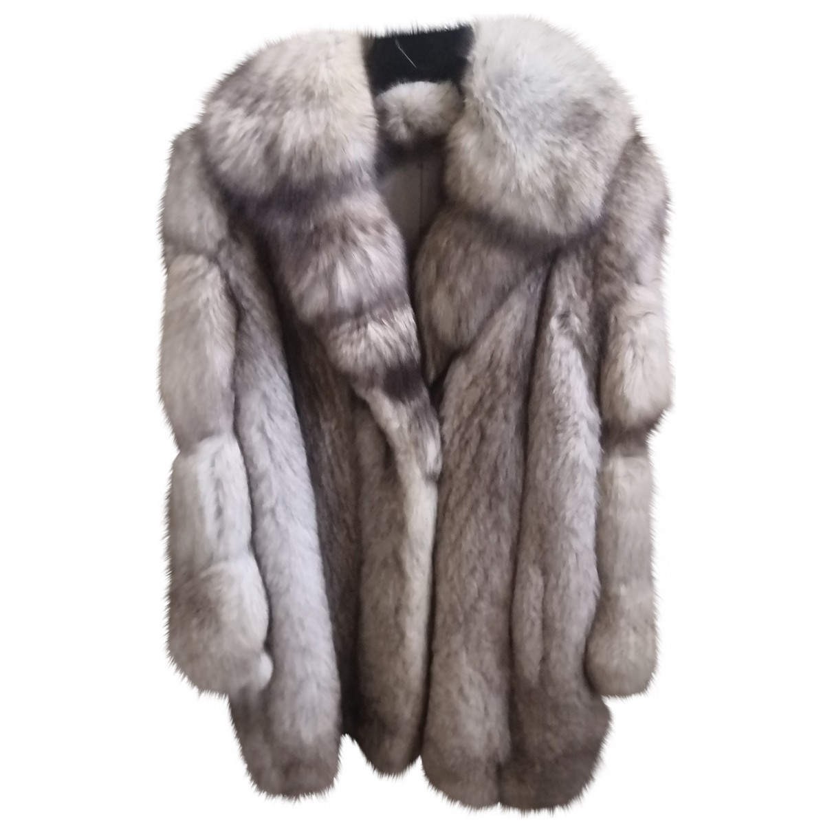Non Signe / Unsigned \N Jacke in  Silber Fuchs