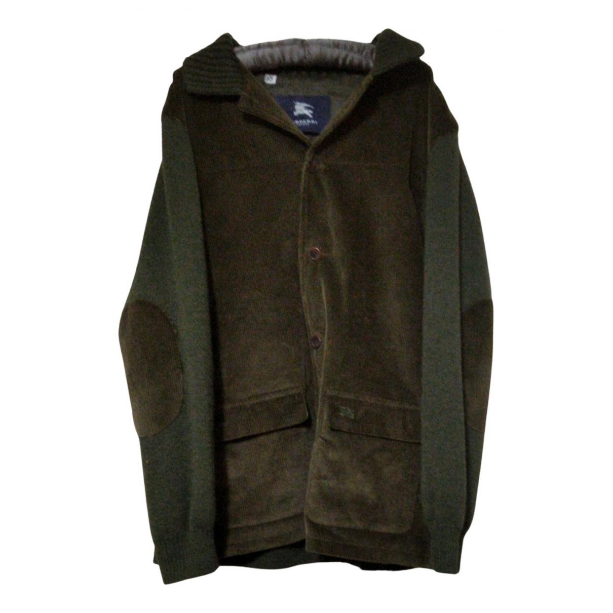 Burberry - Vestes.Blousons   pour homme en laine - vert