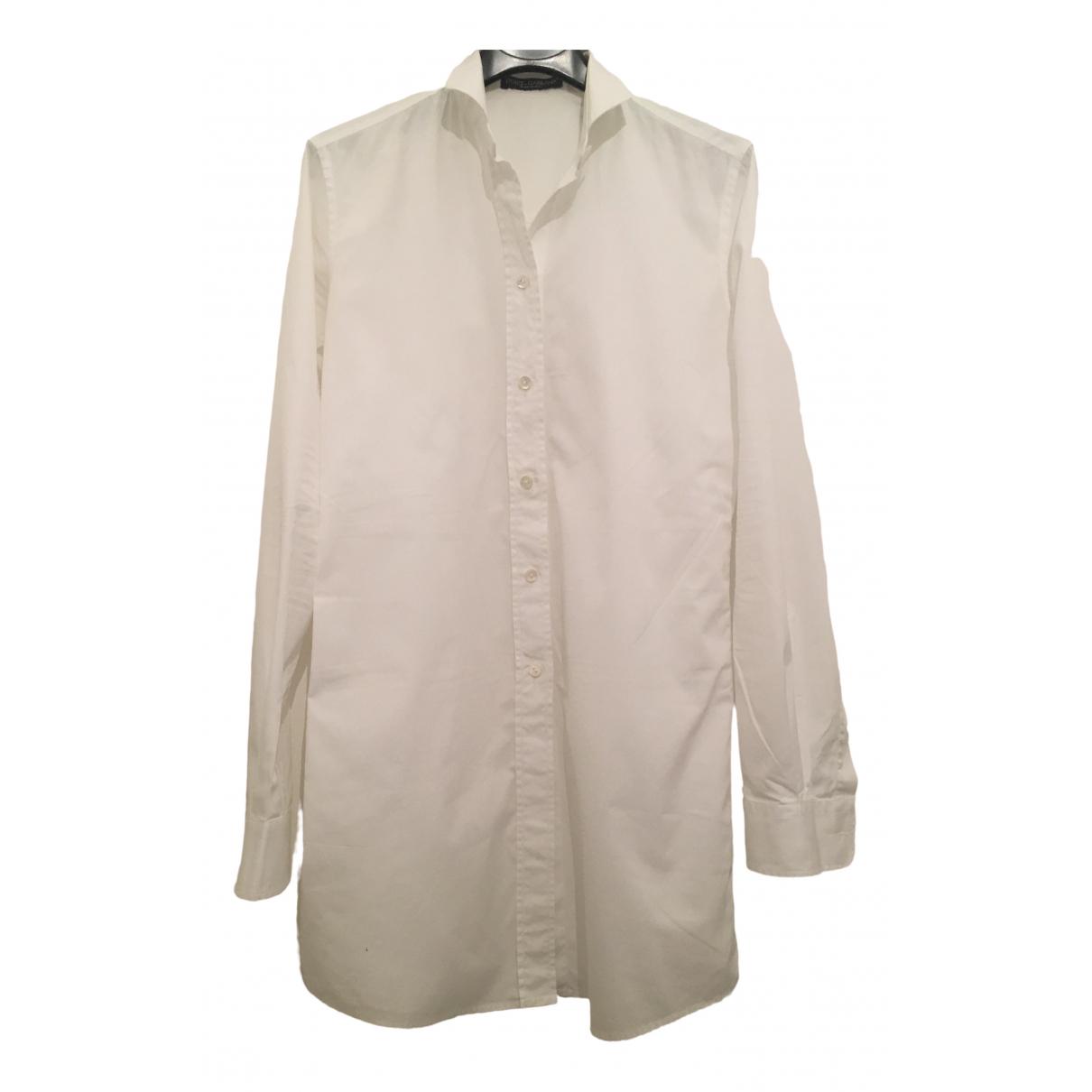 Dolce & Gabbana \N Kleid in  Weiss Baumwolle - Elasthan