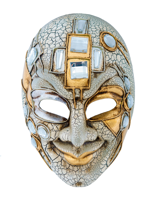 Kostuemzubehor Maske Gesicht gold/silber