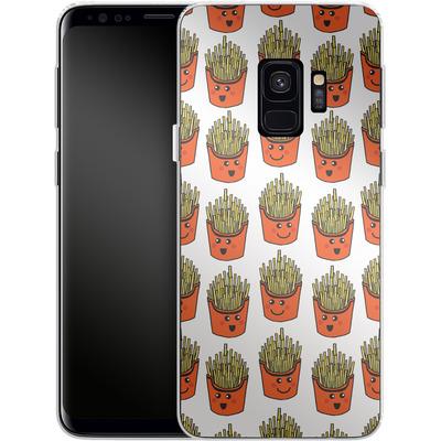 Samsung Galaxy S9 Silikon Handyhuelle - Happy Fries von caseable Designs