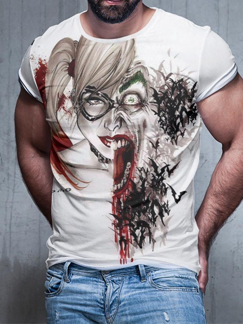 Ericdress Casual Round Neck Print Men's Short Sleeve T-shirt