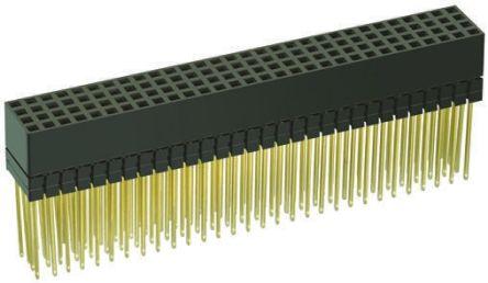 HARWIN 2mm Pitch 120 Way 4 Row Straight PCB Socket, Through Hole, Solder Termination
