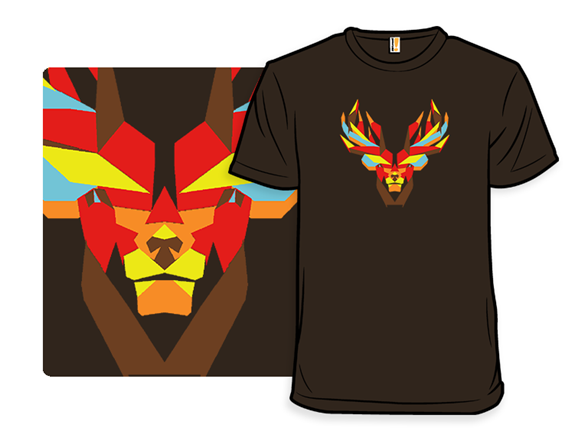 Fire Stag T Shirt