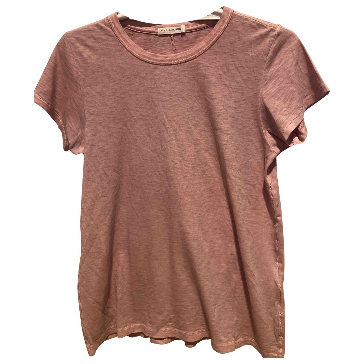 Rag & Bone - Top   pour femme en coton - rose