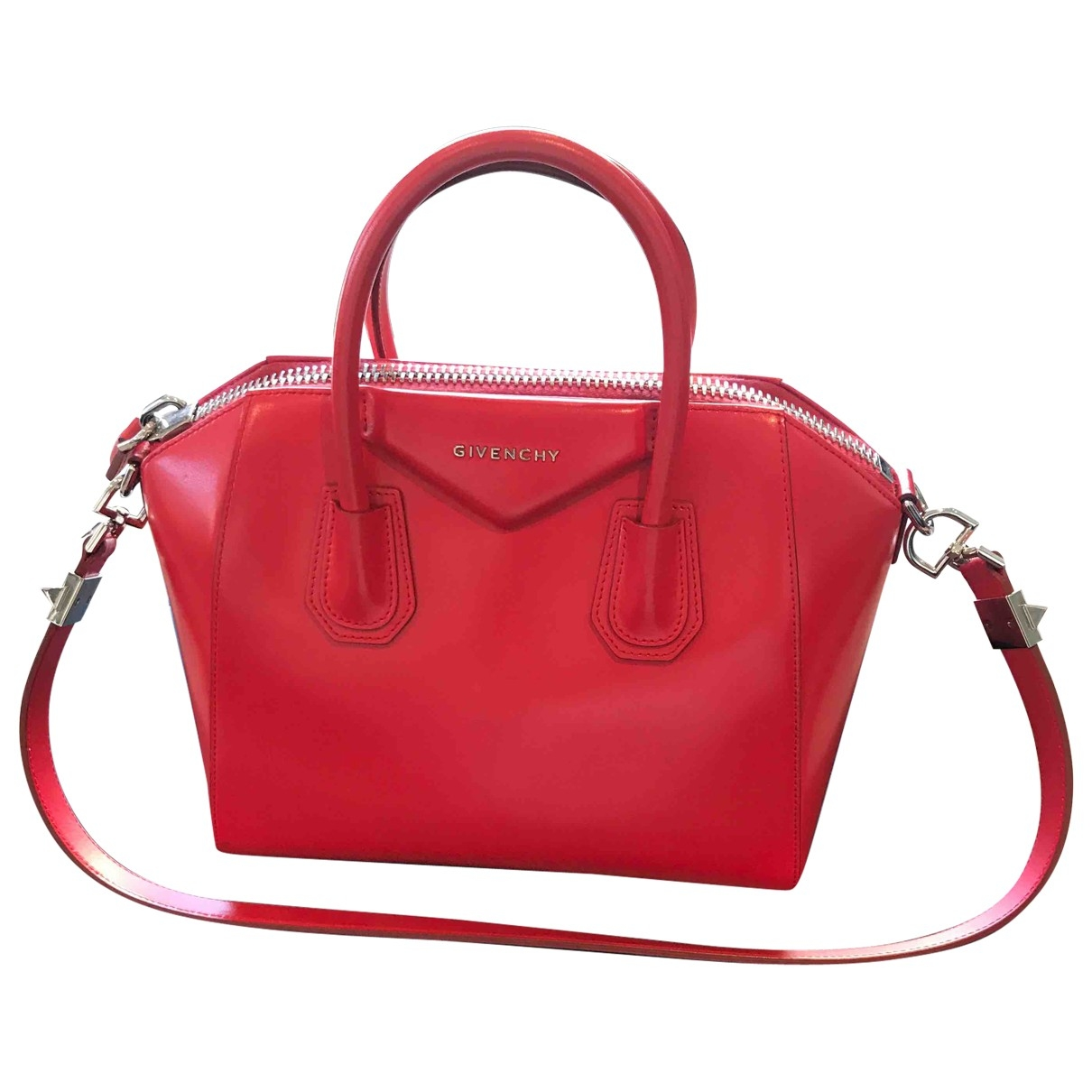 Givenchy - Sac a main Antigona pour femme en cuir - rouge