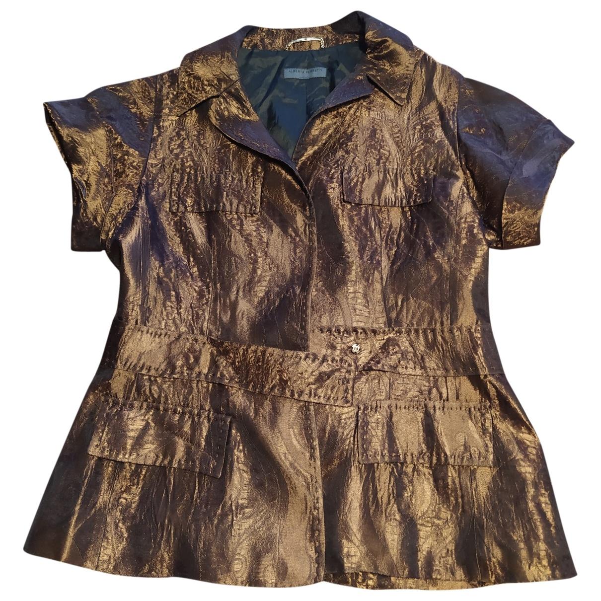 Alberta Ferretti \N Brown jacket for Women 46 IT