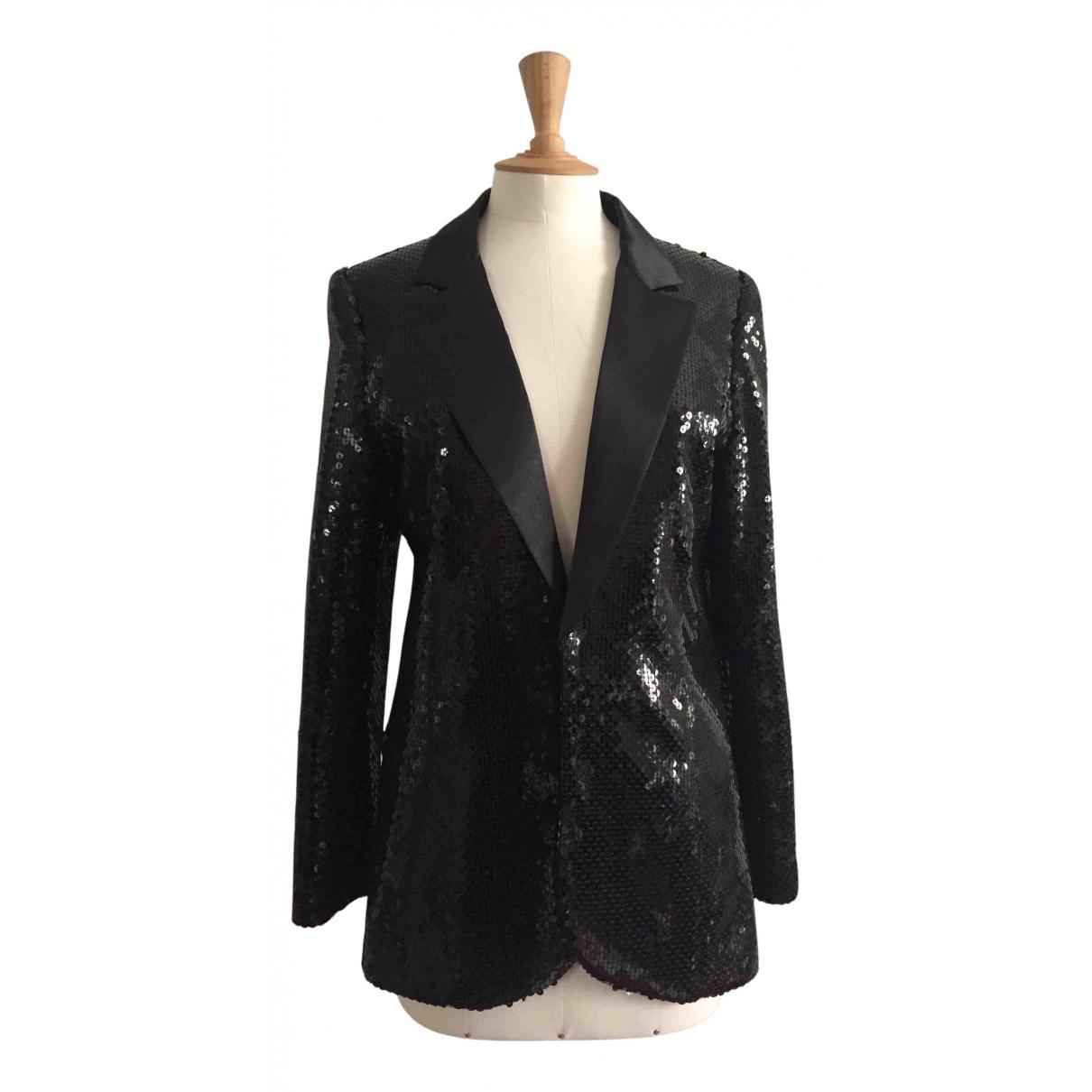 Karl Lagerfeld Pour H&m - Veste   pour femme en a paillettes - noir