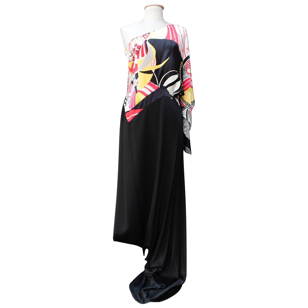 John Galliano - Robe   pour femme en soie - multicolore