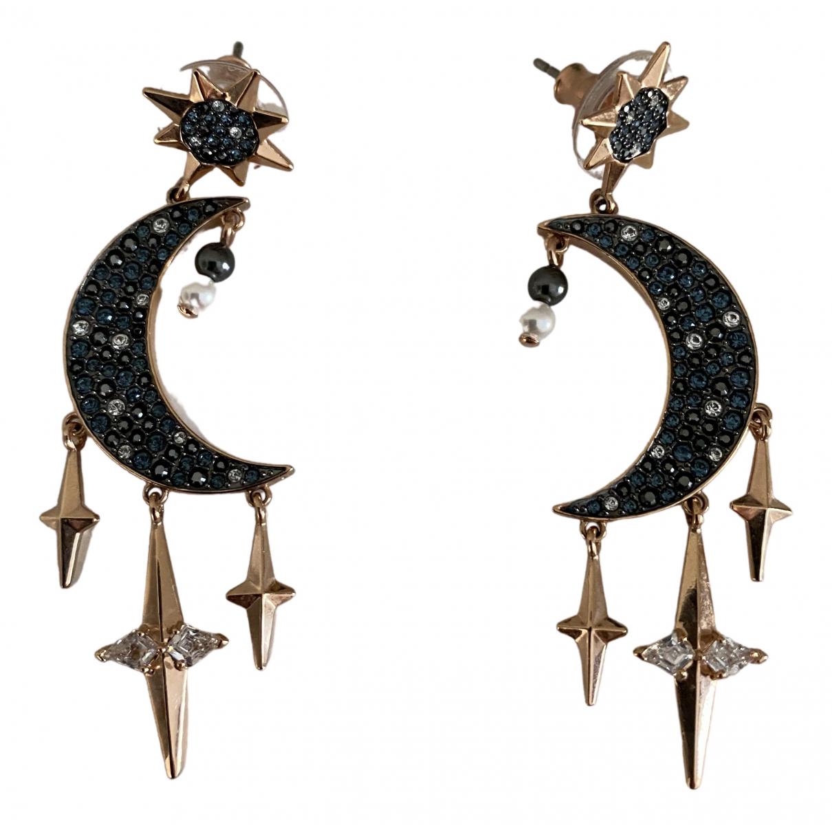 Swarovski \N Blue Metal Earrings for Women \N