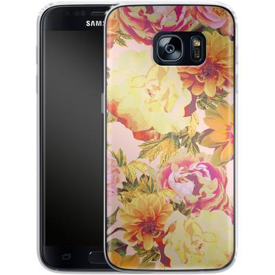 Samsung Galaxy S7 Silikon Handyhuelle - Tropicana Bouquet von Zala Farah