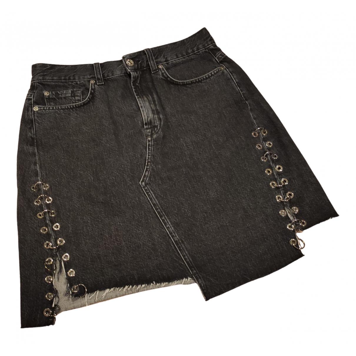 7 For All Mankind \N Rocke in  Schwarz Denim - Jeans