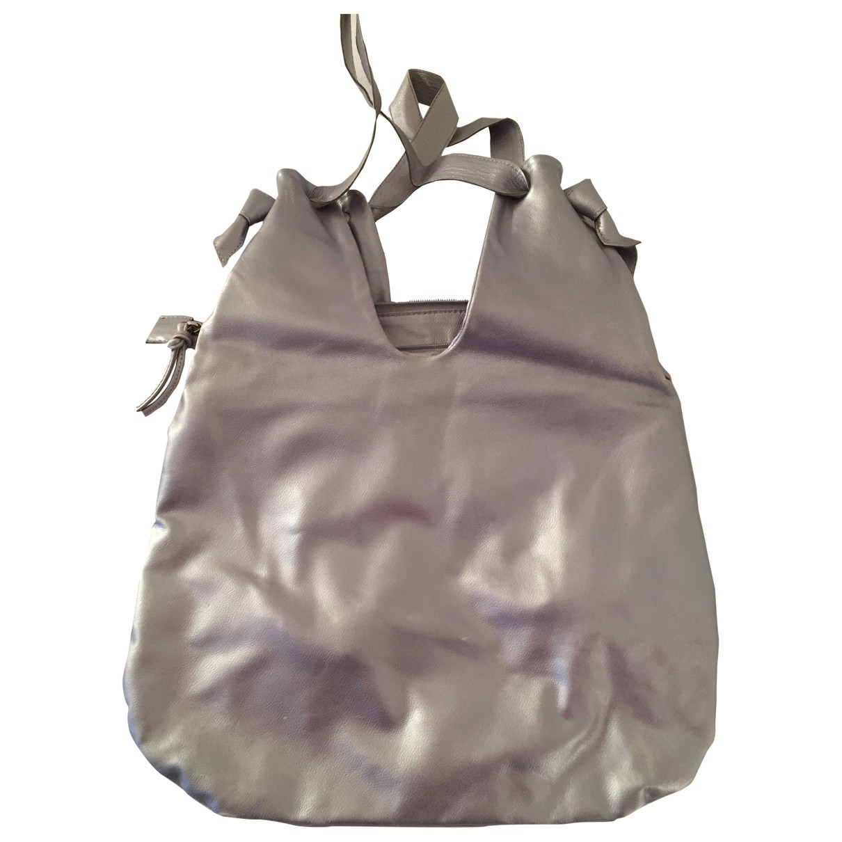 Non Signé / Unsigned \N Silver Leather handbag for Women \N