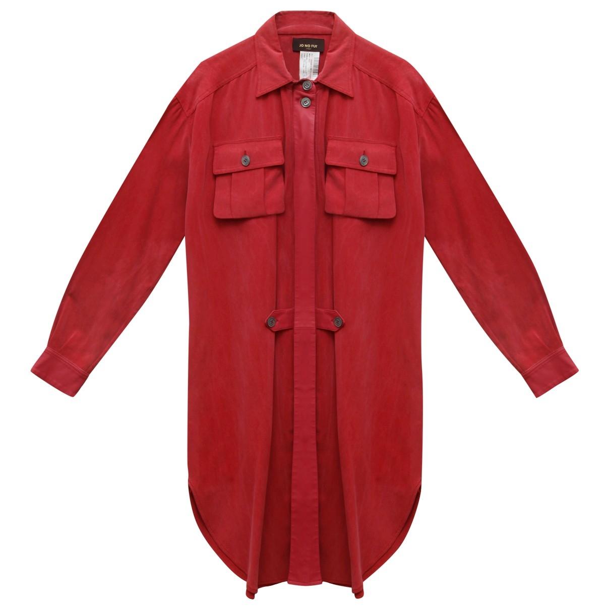 - Robe Oversize pour femme en soie - rose