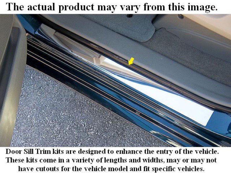 Quality Automotive Accessories 2 Piece Stainless Door Sill Trim Chevrolet Silverado 2-Door 92-02