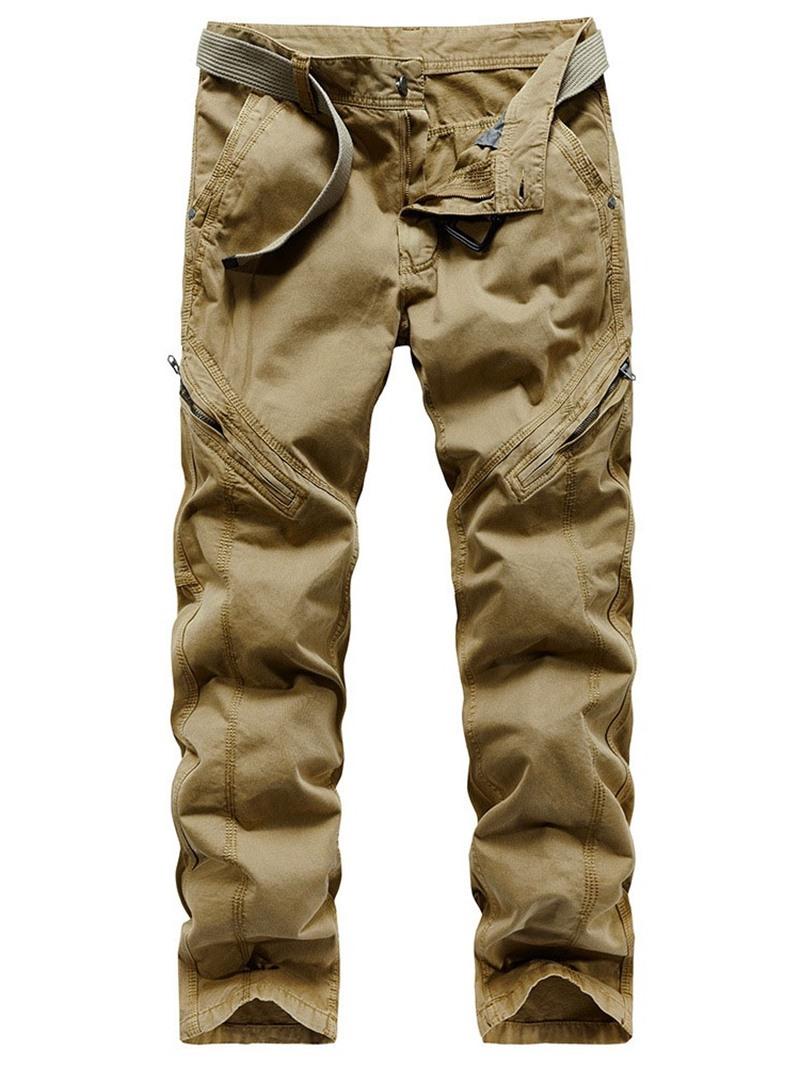 Ericdress Zipper Plain Straight Four Seasons Zipper Casual Pants