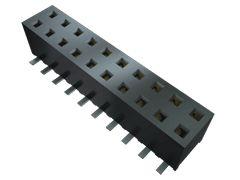 Samtec , MMS 2mm Pitch 8 Way 2 Row Vertical PCB Socket, Surface Mount, Solder Termination (68)
