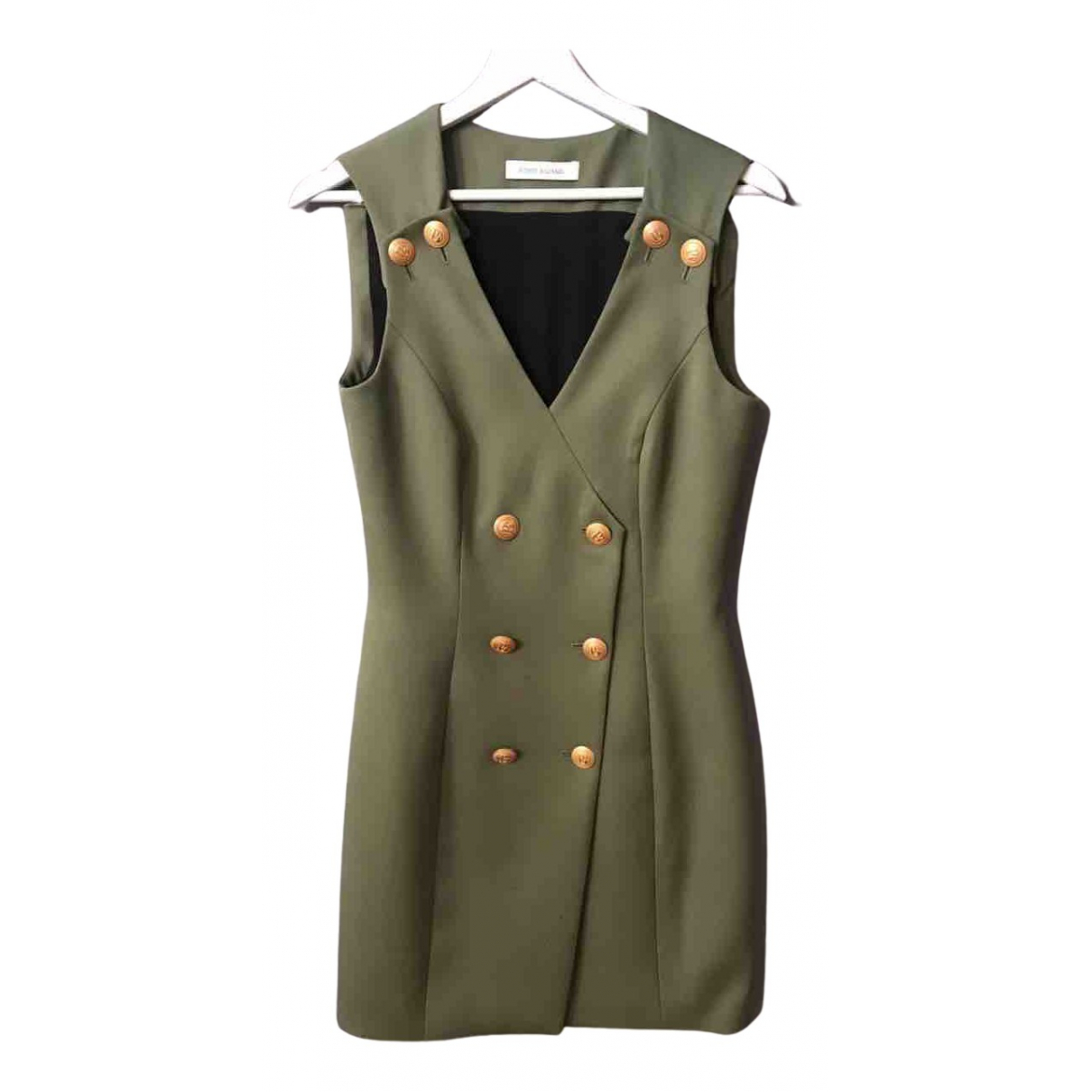 Pierre Balmain N Khaki Wool dress for Women 36 FR