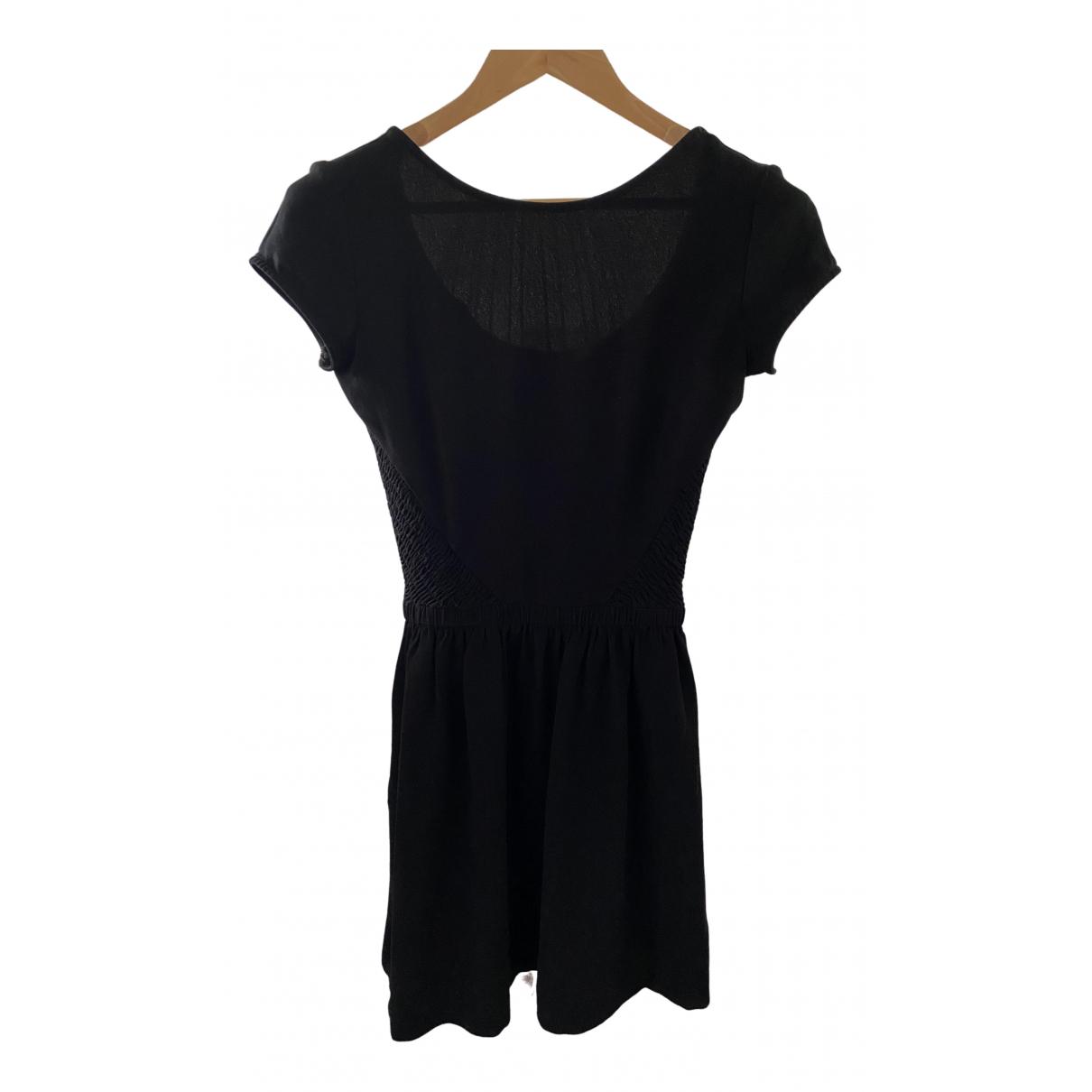 Maje \N Kleid in  Schwarz Polyester