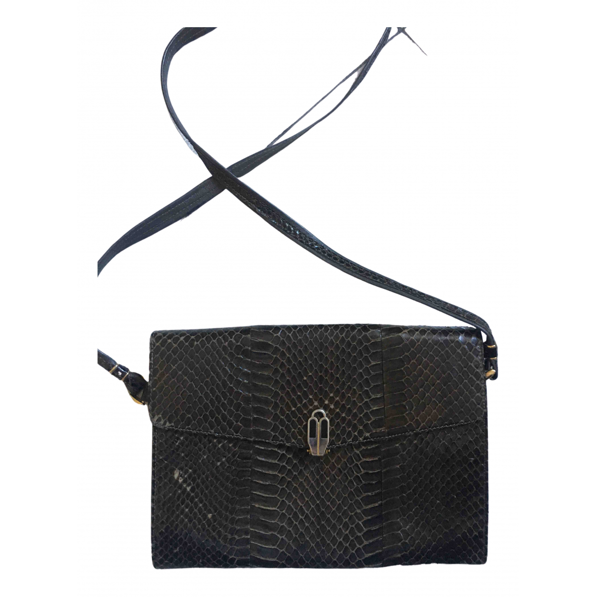 Non Signé / Unsigned N Brown Exotic leathers Clutch bag for Women N