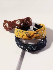 3pcs Ditsy Floral Pattern Headband