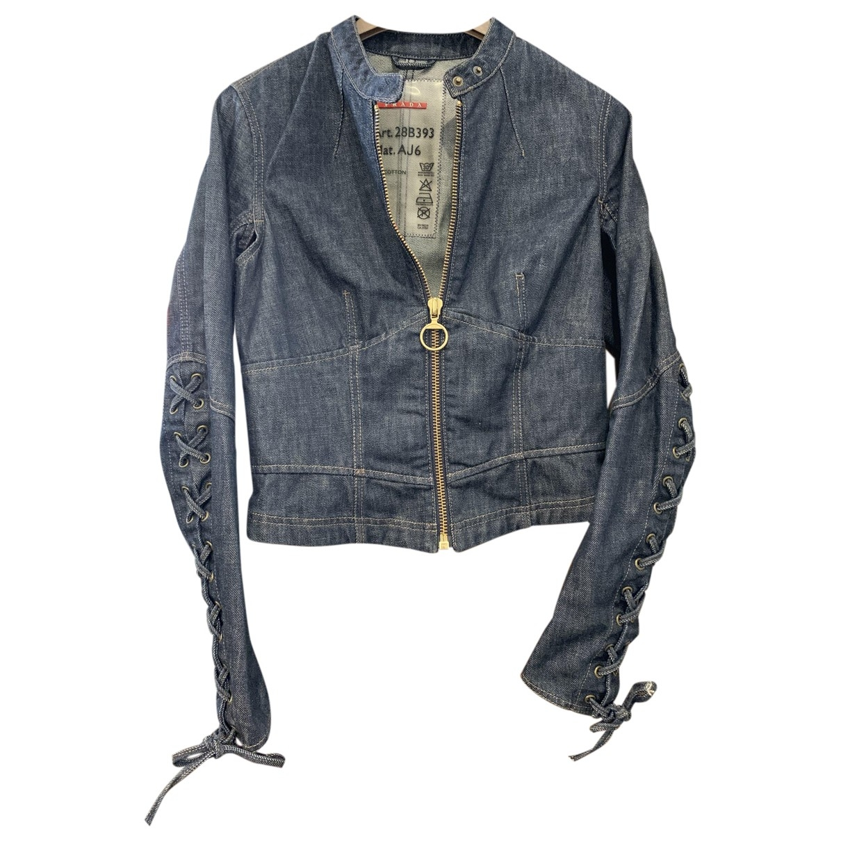 Prada \N Blue Denim - Jeans jacket for Women 42 IT