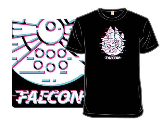 Glitch Falcon T Shirt