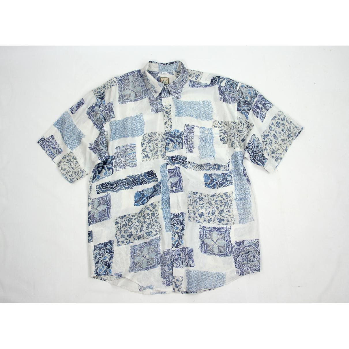 - Chemises   pour homme en soie - bleu