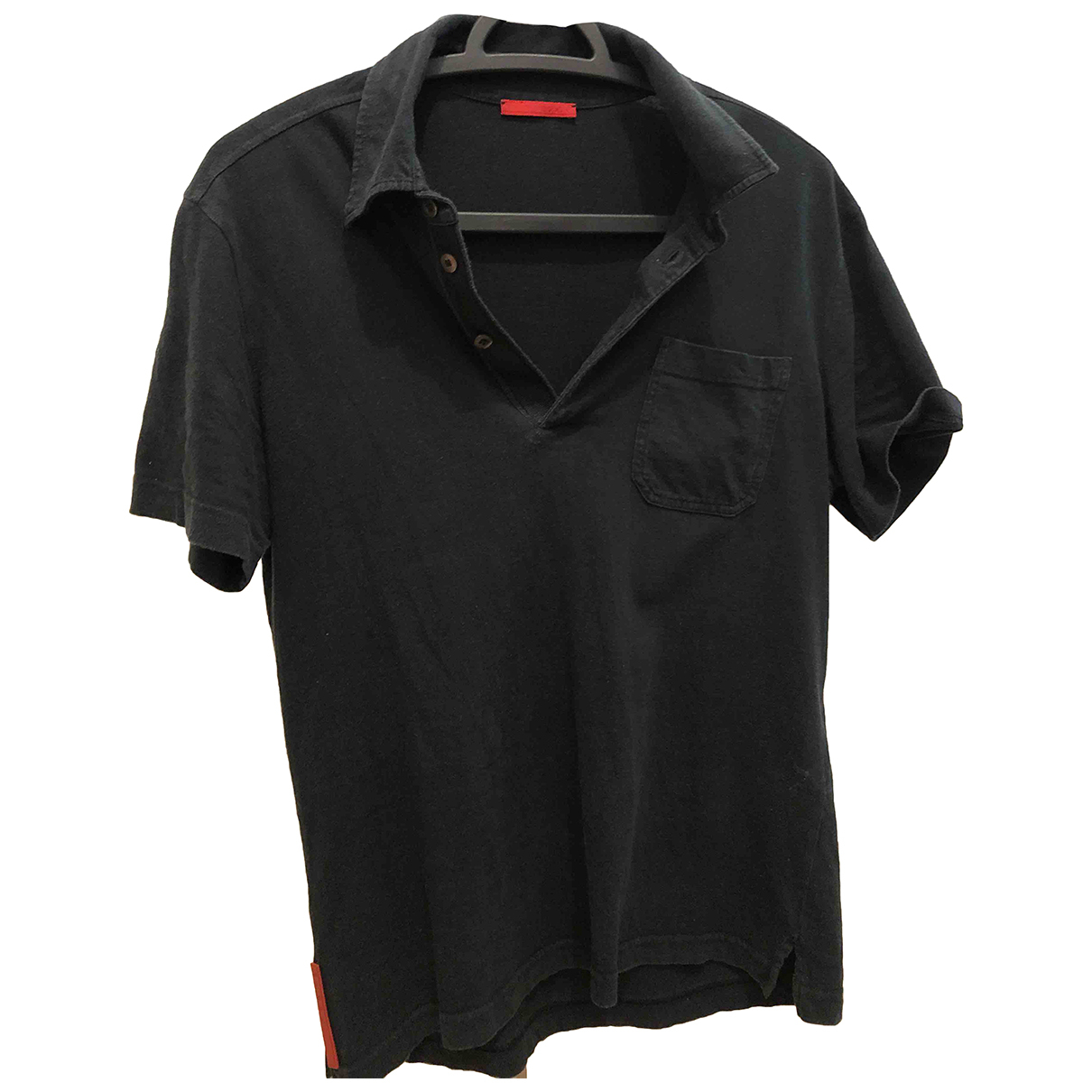 Prada N Black Cotton Polo shirts for Men S International