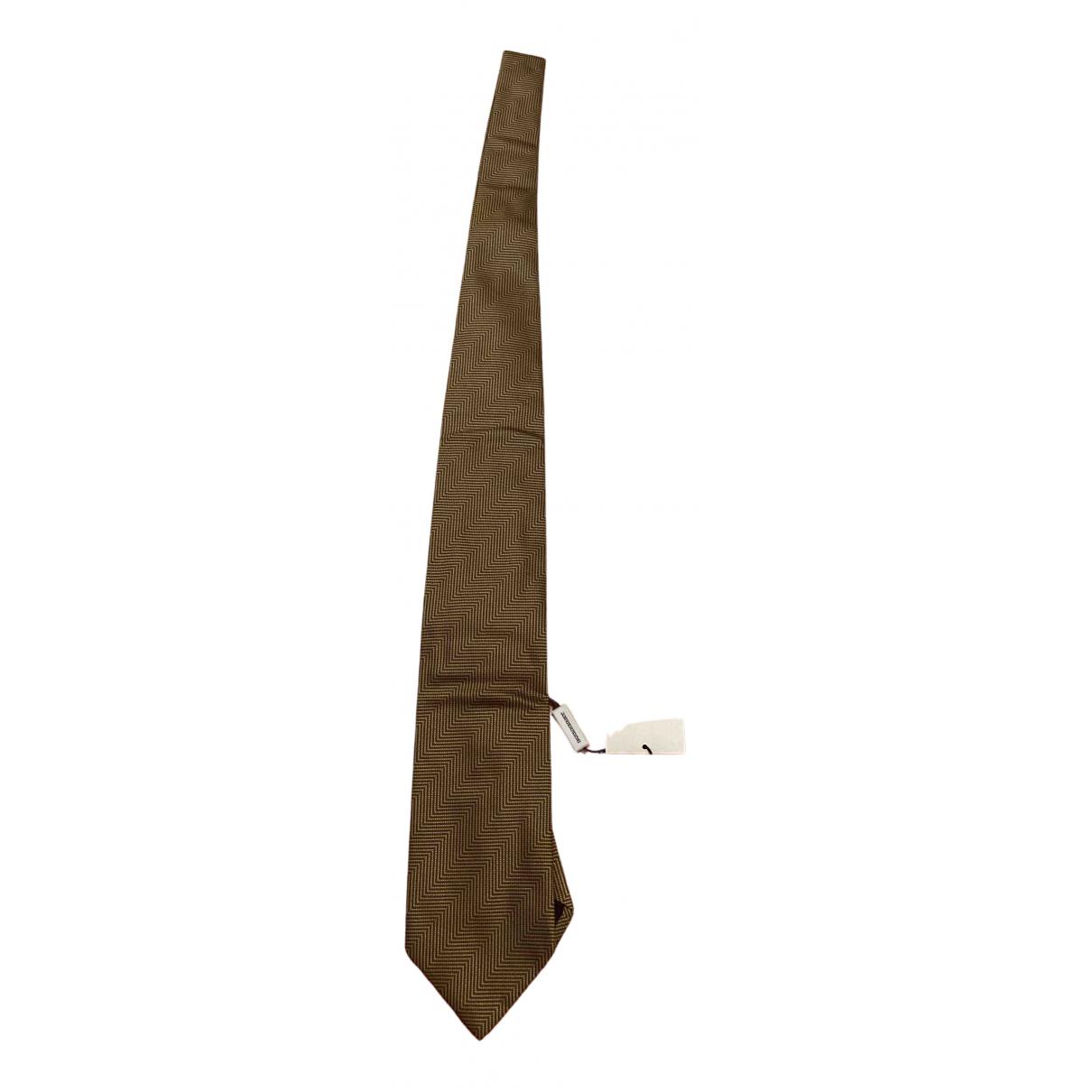 Burberry \N Krawatten in  Gold Seide