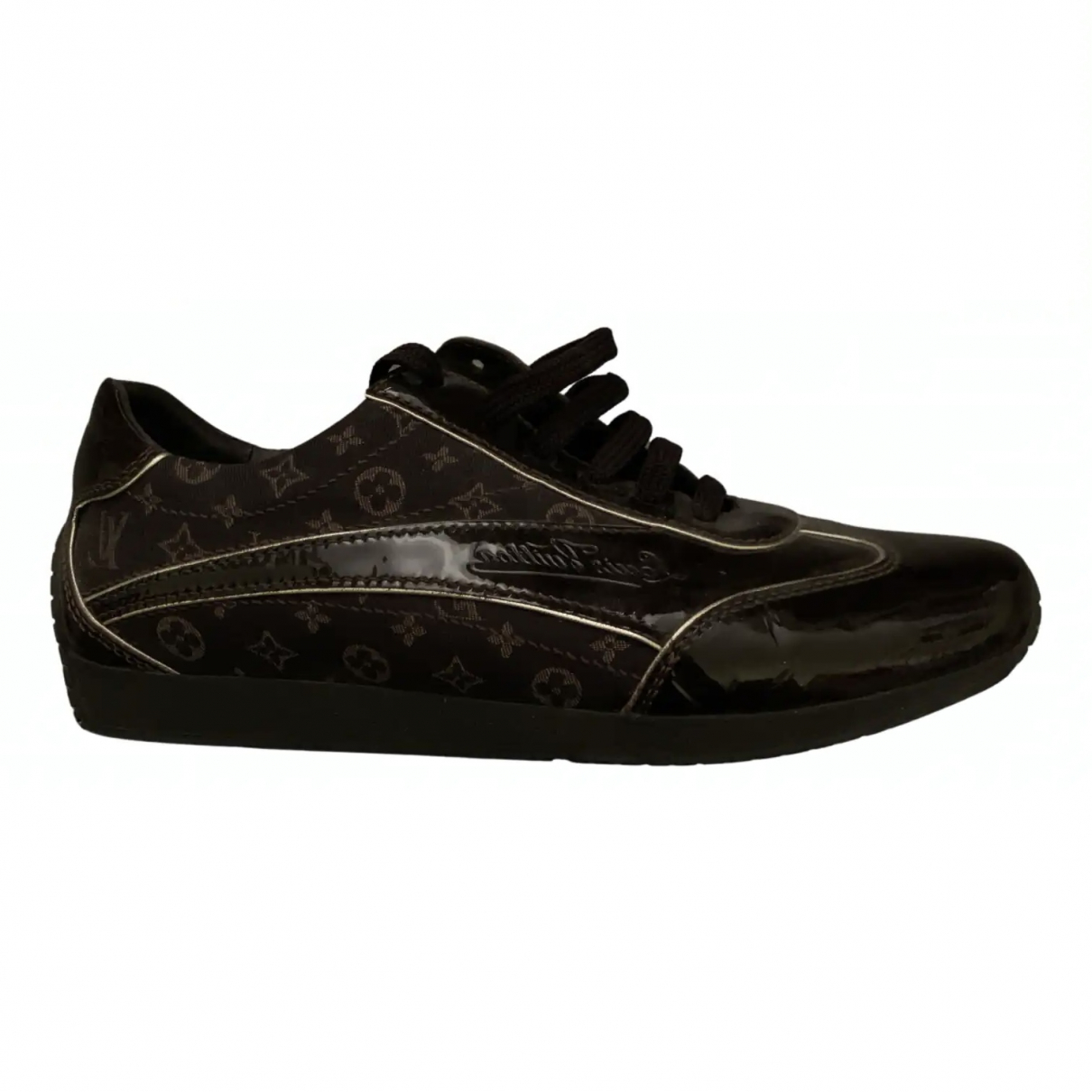 Louis Vuitton N Brown Patent leather Trainers for Women 38 EU