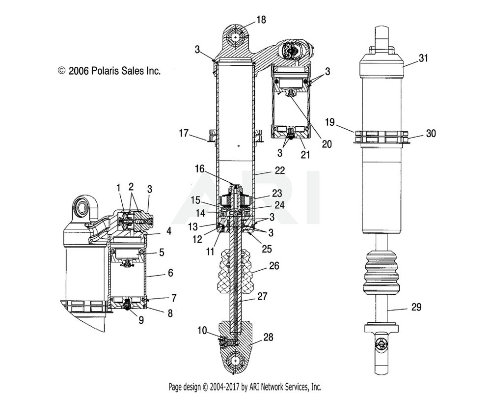 Polaris OEM 1500743 Piston, Floating