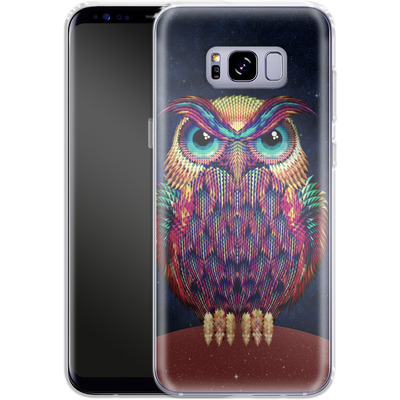 Samsung Galaxy S8 Plus Silikon Handyhuelle - Owl von Ali Gulec