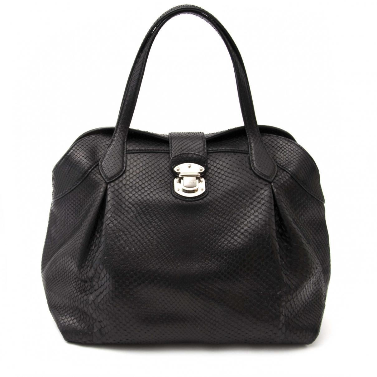Louis Vuitton \N Handtasche in  Schwarz Python