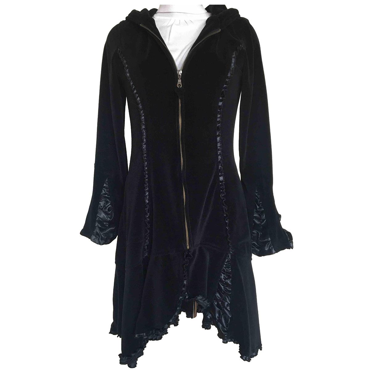 - Manteau Manche ballon pour femme en coton - noir