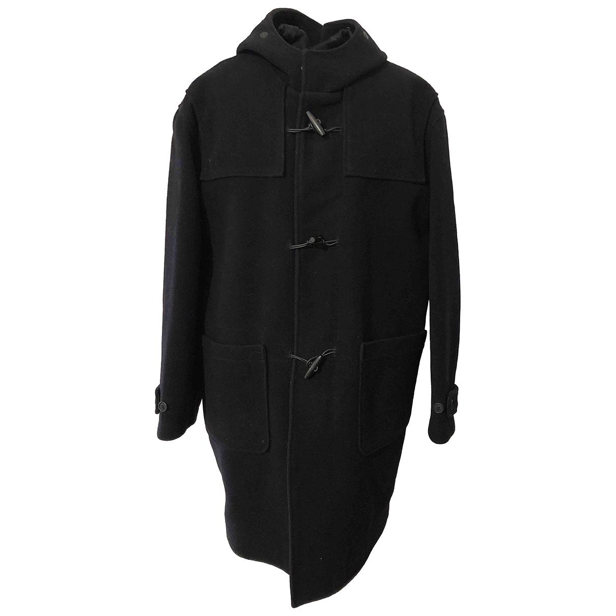 Trussardi \N Black Wool coat  for Men 48 IT