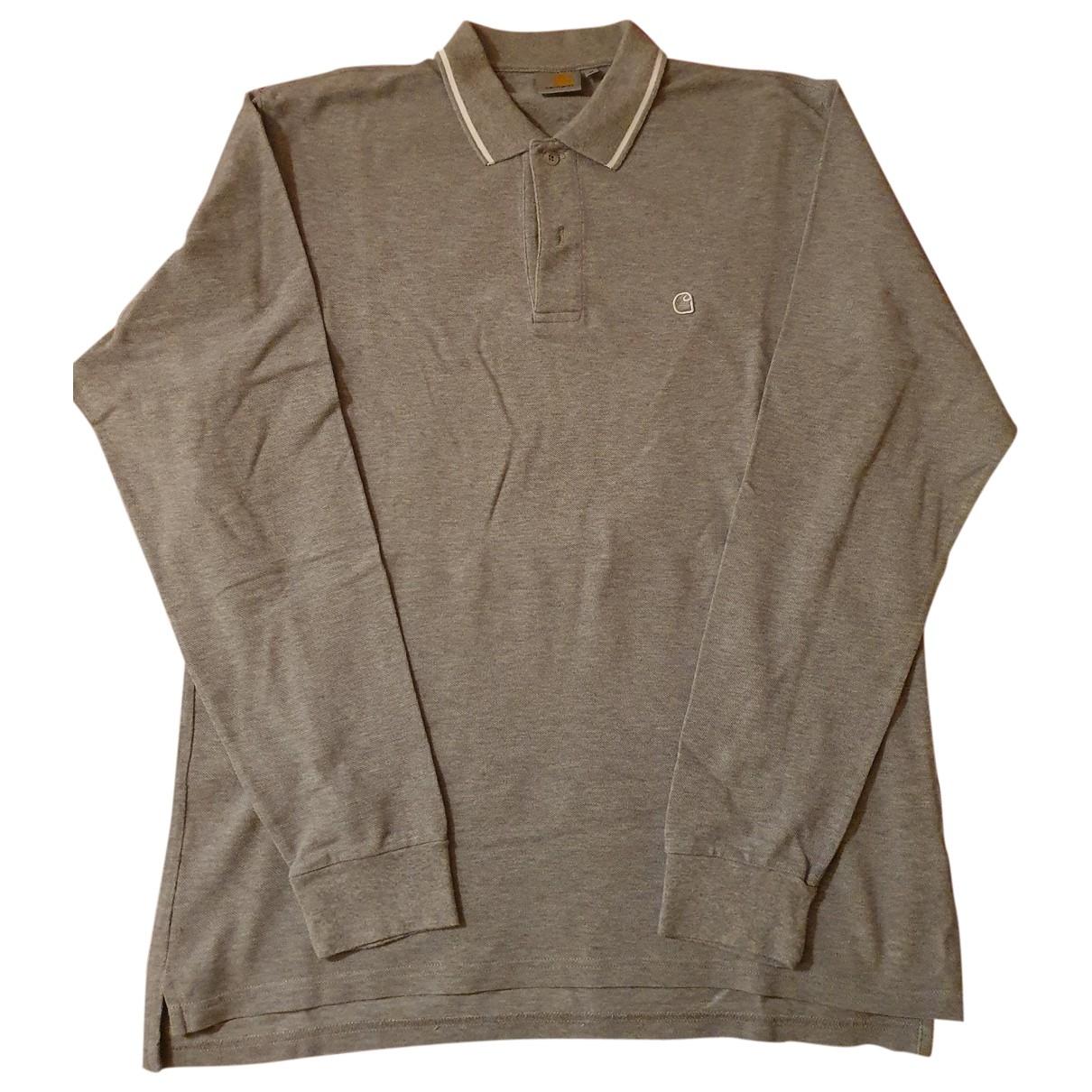 Carhartt - Polos   pour homme en coton - gris