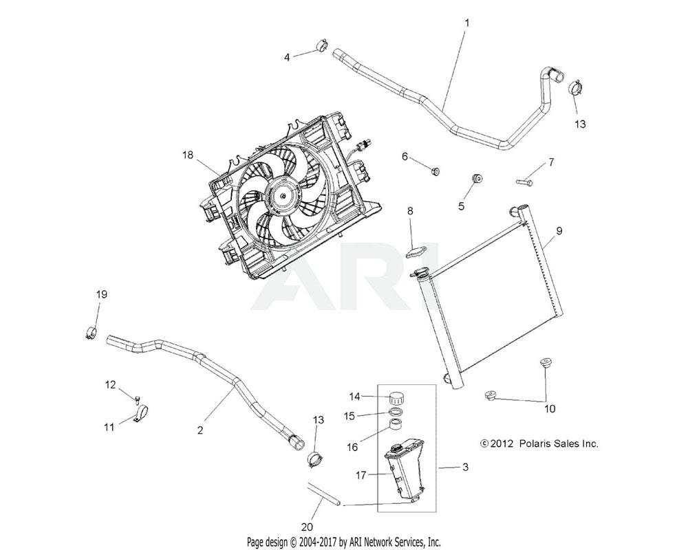 Polaris OEM 5414391 HOSE, RADIATOR, ENGINE IN