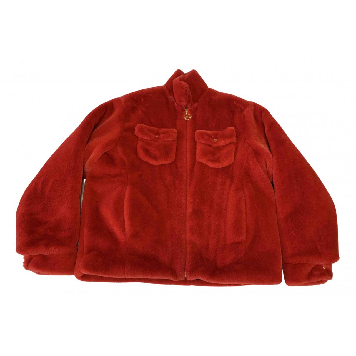 Gcds \N Jacke in  Rot Synthetikpelz