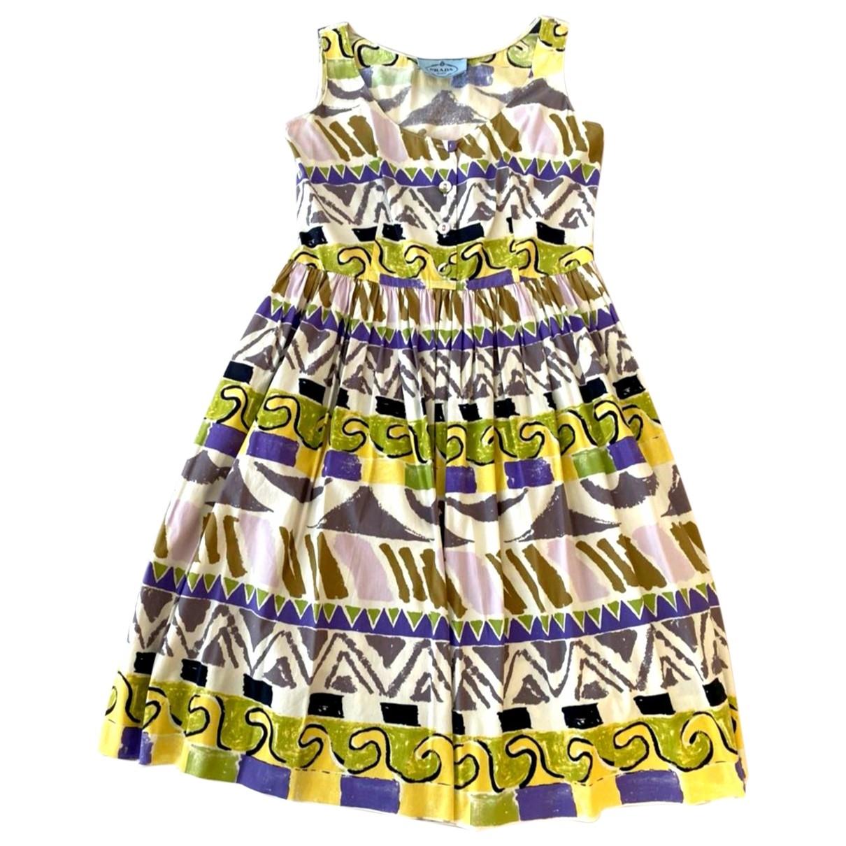 Prada \N Multicolour Cotton dress for Women 38 IT