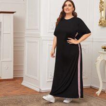 Plus Side Striped Maxi Tee Dress