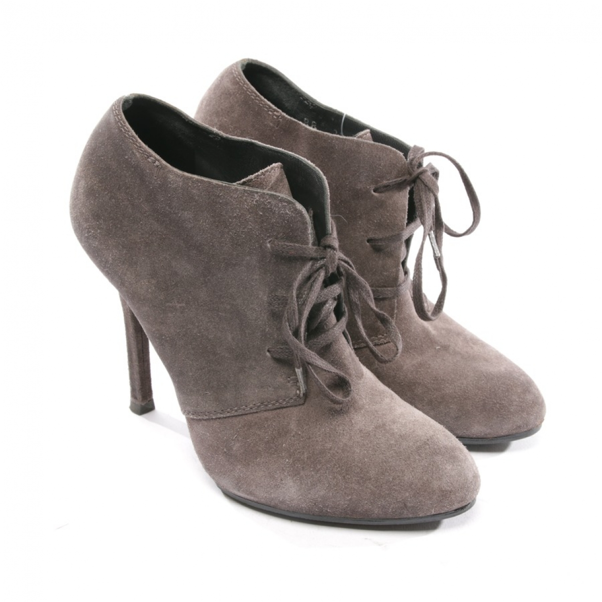 Yves Saint Laurent \N Grey Suede Ankle boots for Women 36 EU