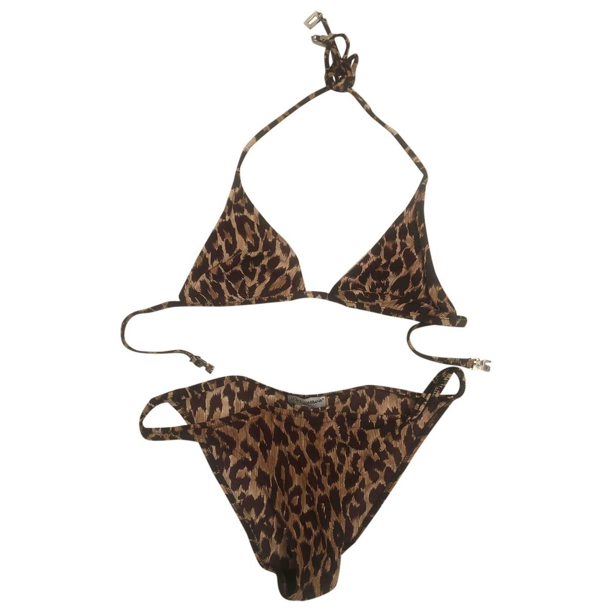 Dolce & Gabbana \N Multicolour Cotton - elasthane Swimwear for Women 40 IT