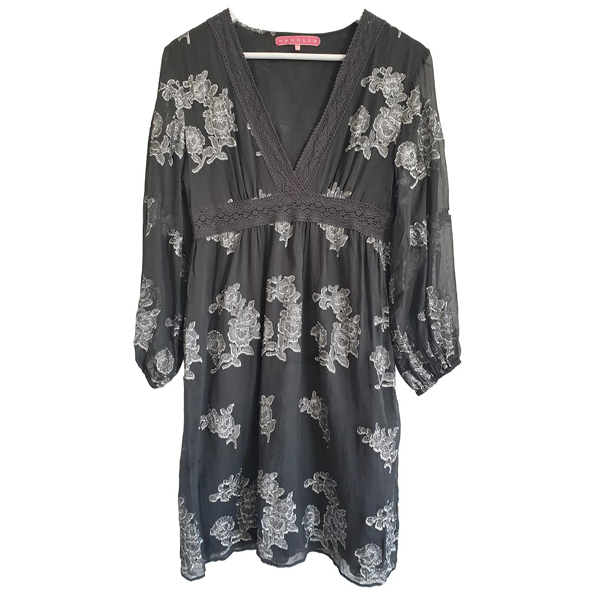 Manoush \N Grey Silk dress for Women 38 FR